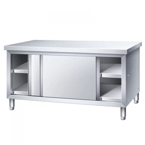 The Lowest Price Stainless steel 2 Tiers Kitchen Station with sliding doors