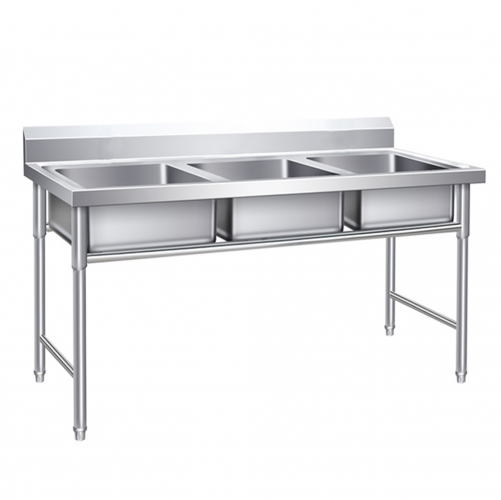Cheap Large Three Compartment Stainless Steel Sink